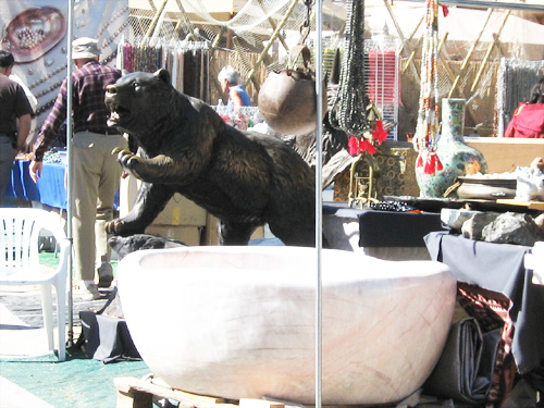 I don't know which I liked better. the bear or the tremendous quartz 'bowl'